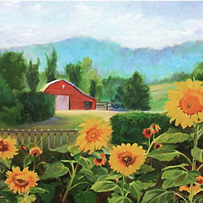 Country Living Oil Paintings